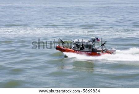 US  Coast Guard patrol boat - stock photo