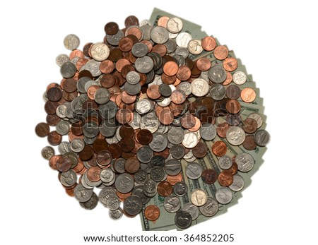 US coins money background - stock photo