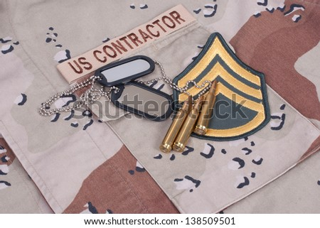 us contractor concept - stock photo
