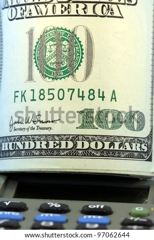 US Currency One Hundred Dollar Bill. - stock photo