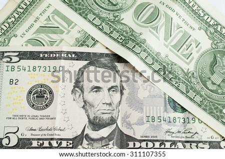 US dollar banknote  - stock photo