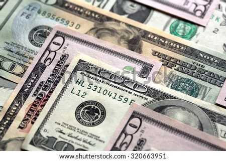 US Dollar Banknotes - stock photo