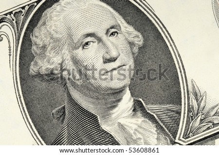 US-dollar-bill in a macro shot - stock photo