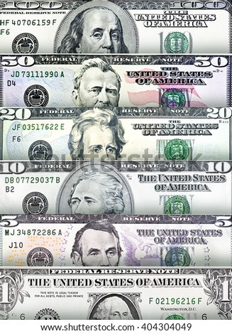 US Dollar bills creating a colorful background