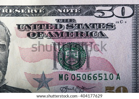 US dollar, fifty dollars banknote