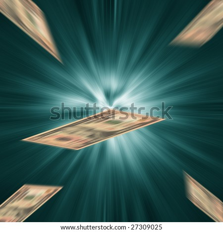 US dollar financial crisis motion blur abstract motion blur render - stock photo