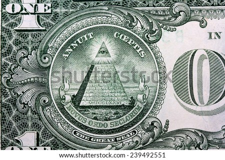 us dollar in macro shot. - stock photo