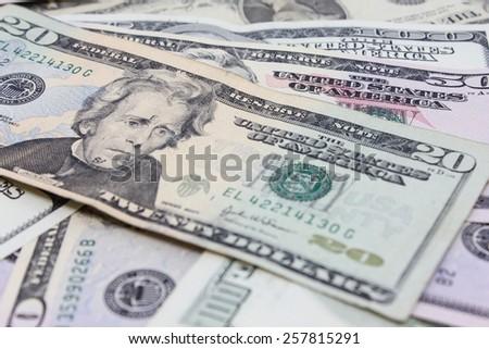 Us Dollars - stock photo