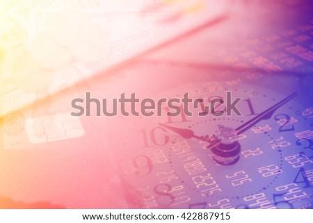 US dollars and finance background. Macro image. - stock photo