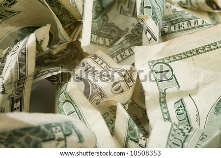 us dollars close up shot, financial concept