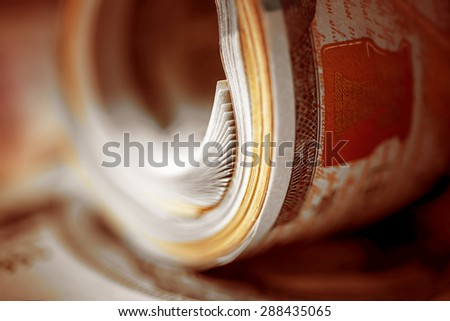 US dollars. Macro image. - stock photo