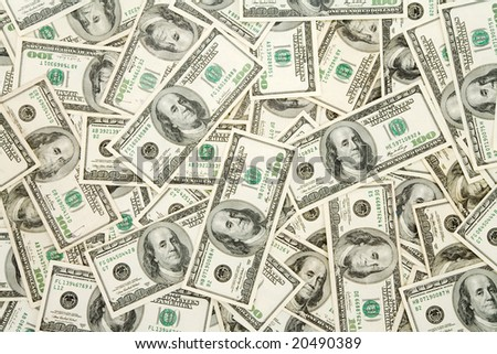 US Dollars Pattern for background