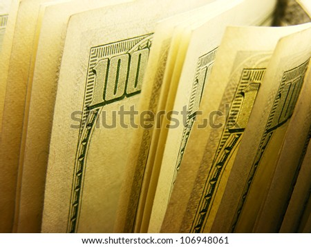 US dollars. Selective focus. - stock photo