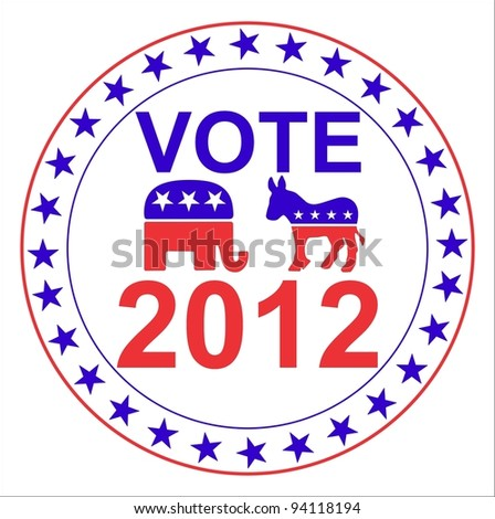 US Election 2012 - stock photo