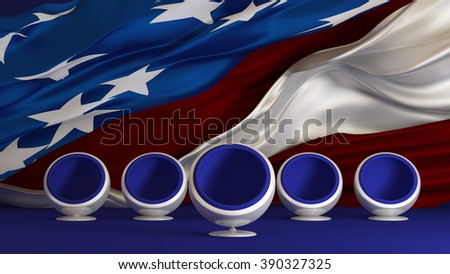 US Elections 2016 Candidate of the party. Select. Elect. Background, 3D illustration. - stock photo