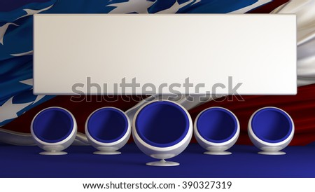 US Elections 2016 Candidate of the party. Select. Elect. Candidate. Background, 3D illustration. - stock photo