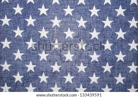 US Flag Back Lit Star Field - stock photo