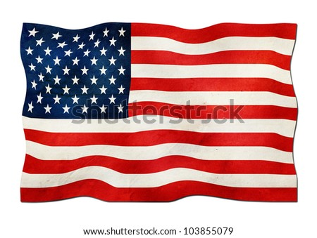 US Flag made of Paper - stock photo