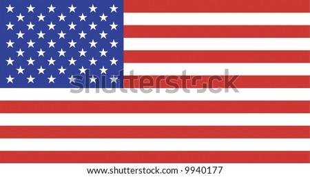 US Flag - National Symbol Of The United States Of America - stock photo