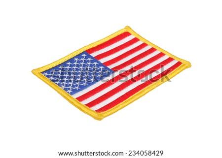 US FLAG  uniform badge isolated on white background - stock photo