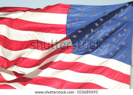 us flag / United States of American flag waving.