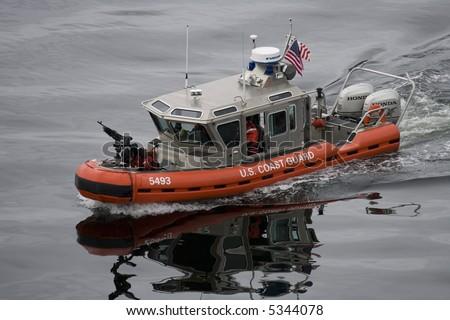 US GARD Coast Guard patrol boat - stock photo