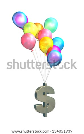 US Inflation, rising prices, interest rates, tax rises on white background - stock photo