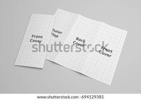 us letter tri fold brochure 3 d stock illustration 694129381