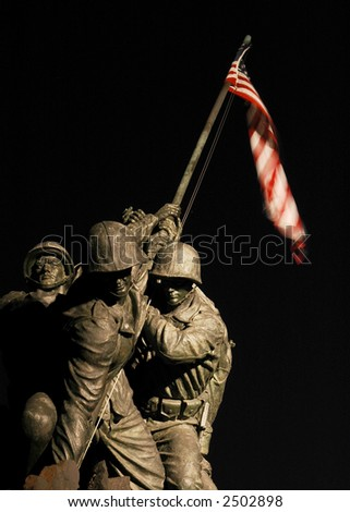 US Marine Corps Memorial - stock photo