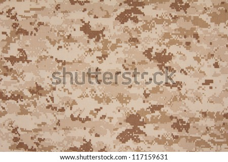 US marine desert marpat digital camouflage fabric texture background - stock photo