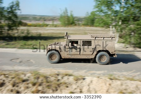 US Military Truck H1 in Action