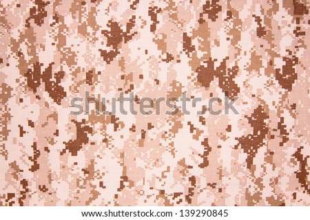 US navy working uniform aor 1 digital camouflage fabric texture background - stock photo