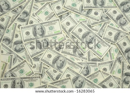 US one hundred dollar bills background