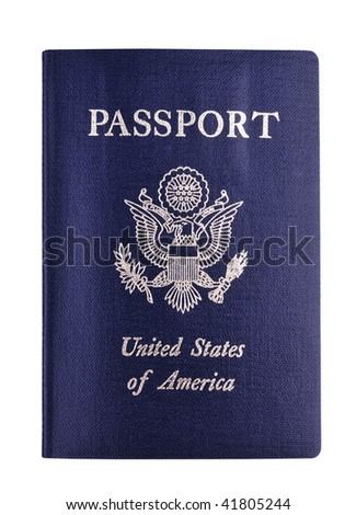 us passport - stock photo