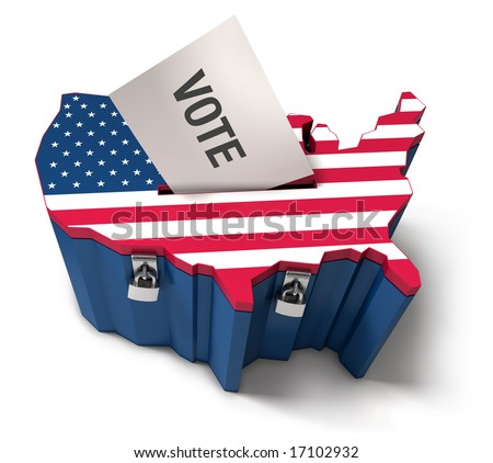 US presidential ballot box - stock photo