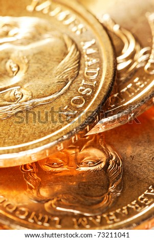 US Presidential Coins - stock photo