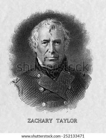 US Presidents. US President Zachary Taylor.