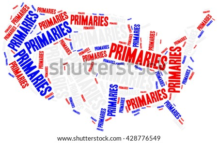 US primaries. Concept related to american president election. - stock photo