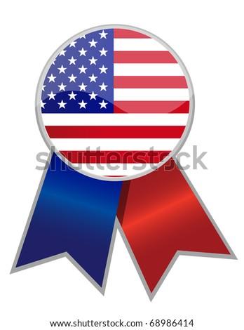 US Ribbon - stock photo