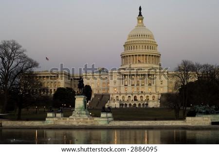 US Senate building at National Mall, Washington, DC - stock photo