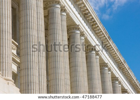 US Senate office building architectural details - stock photo