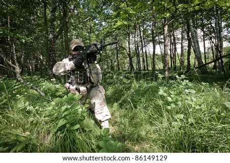 us special forces soldier - stock photo