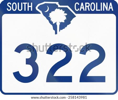 US state route shield South Carolina. - stock photo