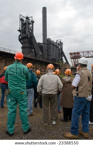 US Steel Carrie Furnace tour - stock photo