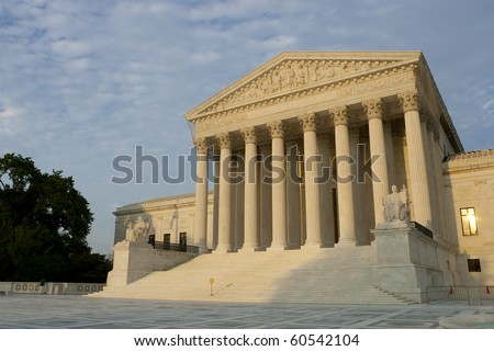 US Supreme Court at sunset. Summer 2010.