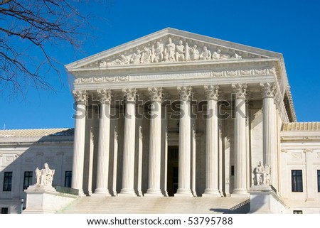 US Supreme Court building in Washington DC - stock photo