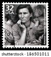 USA-1998: America survives the Depression, issued by USPS in 1998, one of the stamps in 20th century series. Photo by American documentary photographer and photojournalist Dorothea Lange (1895–1965) . - stock photo