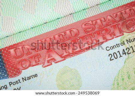 USA American visa texture background for travel concept - stock photo