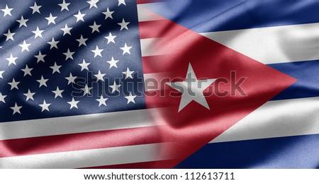 USA and Cuba - stock photo