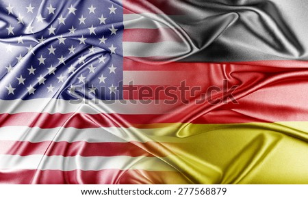 USA and Germany. Relations between two countries. Conceptual image. - stock photo